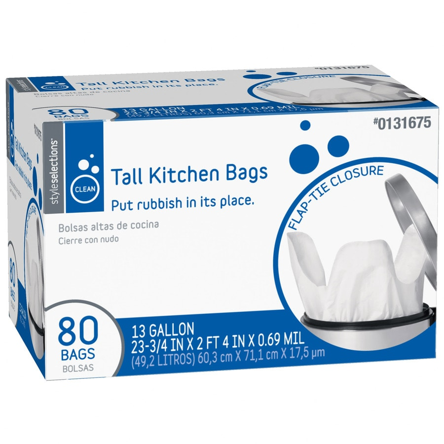 shop style selections 80 count 13 gallon kitchen trash