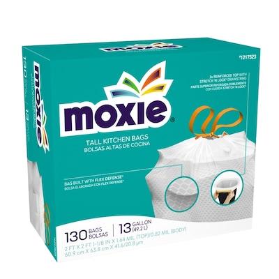 Moxie 130 Pack 13 Gallon White Plastic Kitchen Trash Bag At Lowes Com