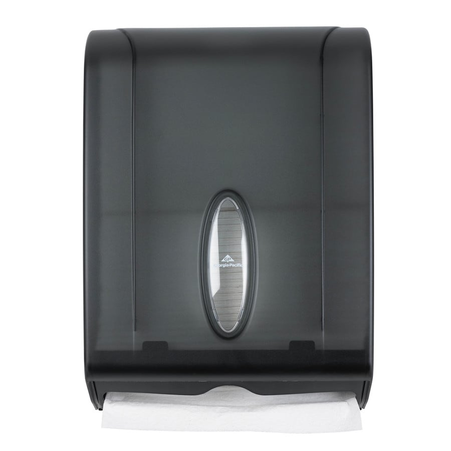 Georgia-Pacific Translucent Smoke C-Fold Pull Paper Towel Dispenser