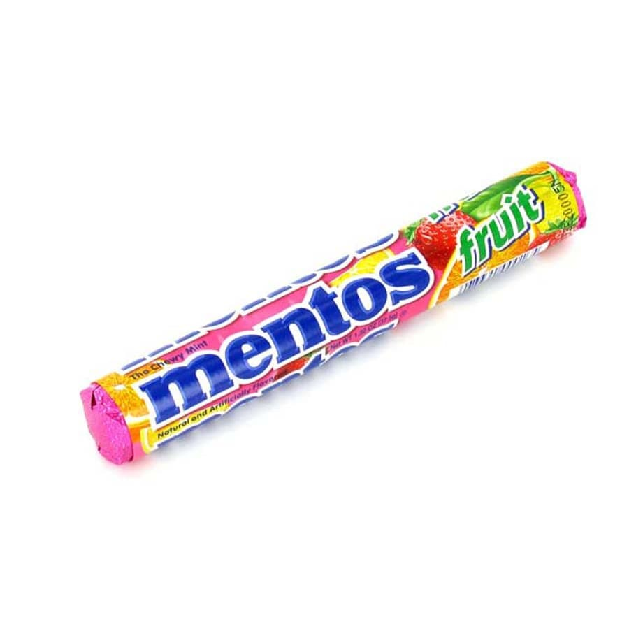 Perfetti Van Melle 1.32-oz Mentos Assorted Fruit Roll