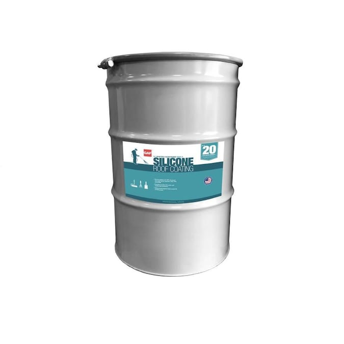 Gaf Coatings 55 Gallon Silicone Reflective Roof Coating 20 Year Limited Warranty In The Reflective Roof Coatings Department At Lowes Com