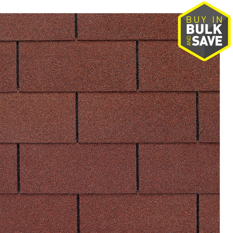 GAF Royal Sovereign 33.33-sq ft Russet Red Traditional 3-Tab Roof Shingles