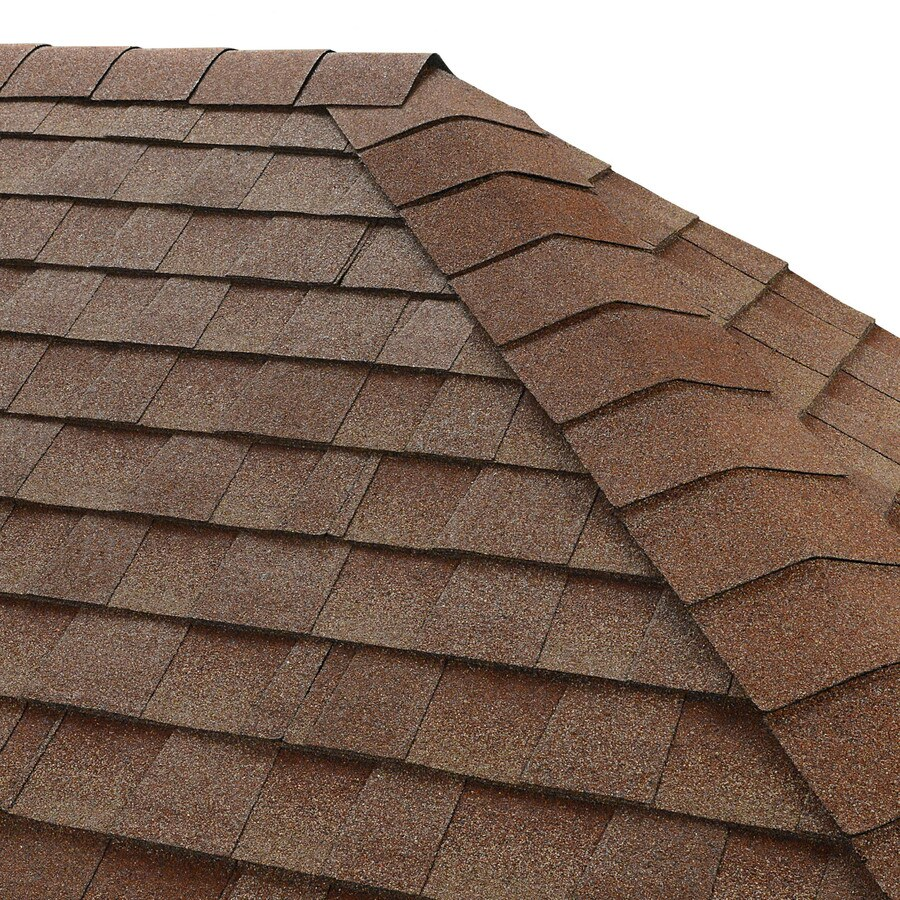GAF Seal-A-Ridge 25 Na-Lin Ft Sunset Brick Hip & Ridge 0-Tab Roof Shingles