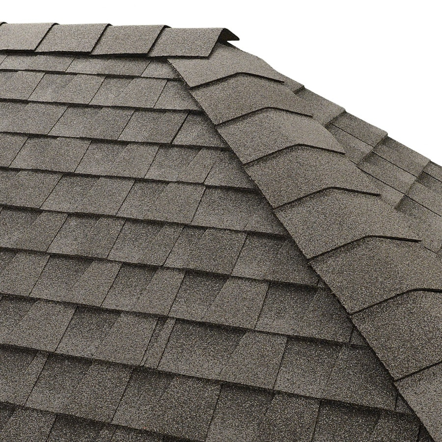 GAF Timbertex 20-Lin Ft Oyster Gray Laminated Hip & Ridge Roof Shingles