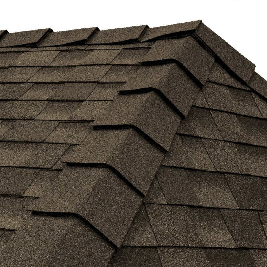 GAF Ridglass 31-lin ft Barkwood Hip and Ridge Roof Shingles
