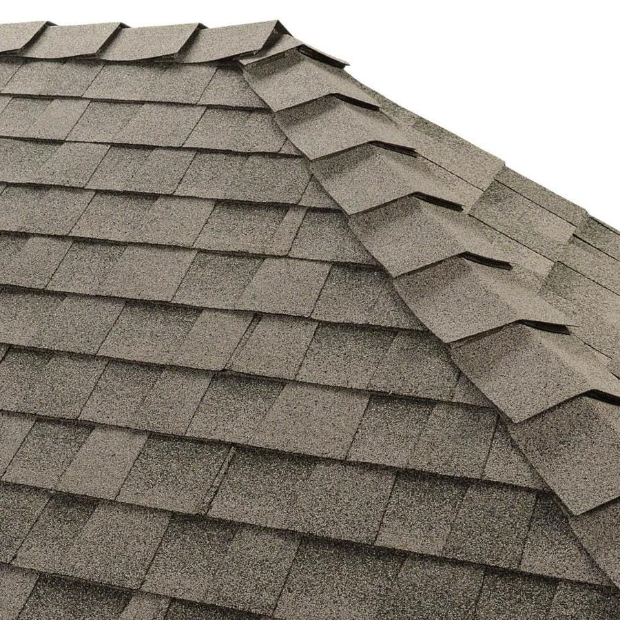 GAF Ridglass 31-lin ft Birchwood Hip and Ridge Roof Shingles