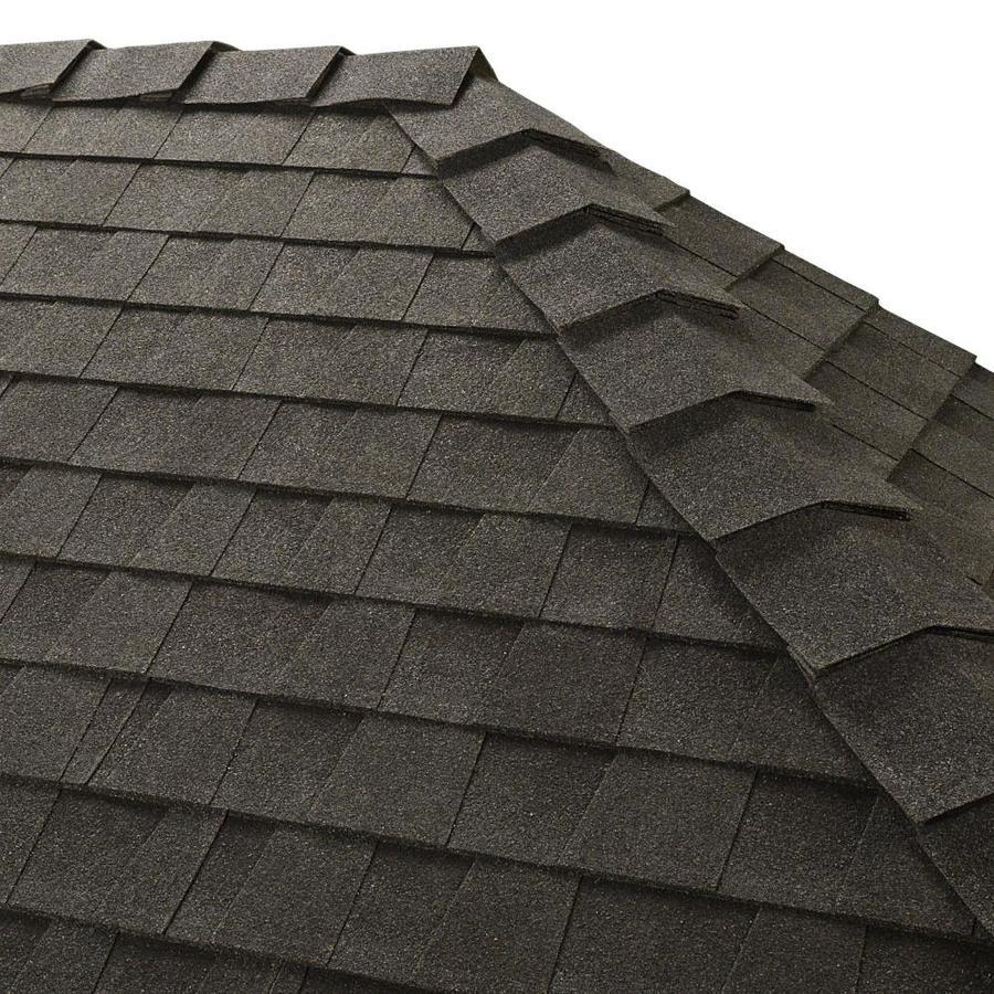 GAF Ridglass 31-lin ft Charcoal Hip and Ridge Roof Shingles