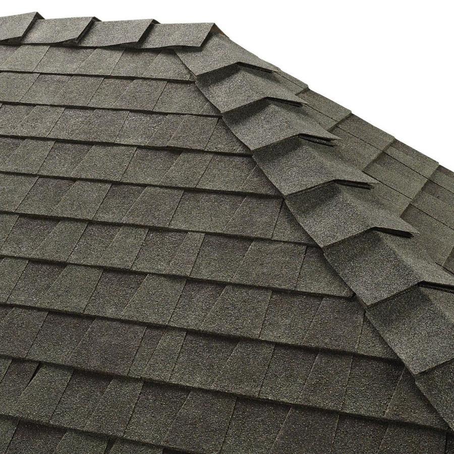 Shop GAF Ridglass 31lin ft Hunter Green Hip and Ridge Roof Shingles – Hunter Green Roof Shingles