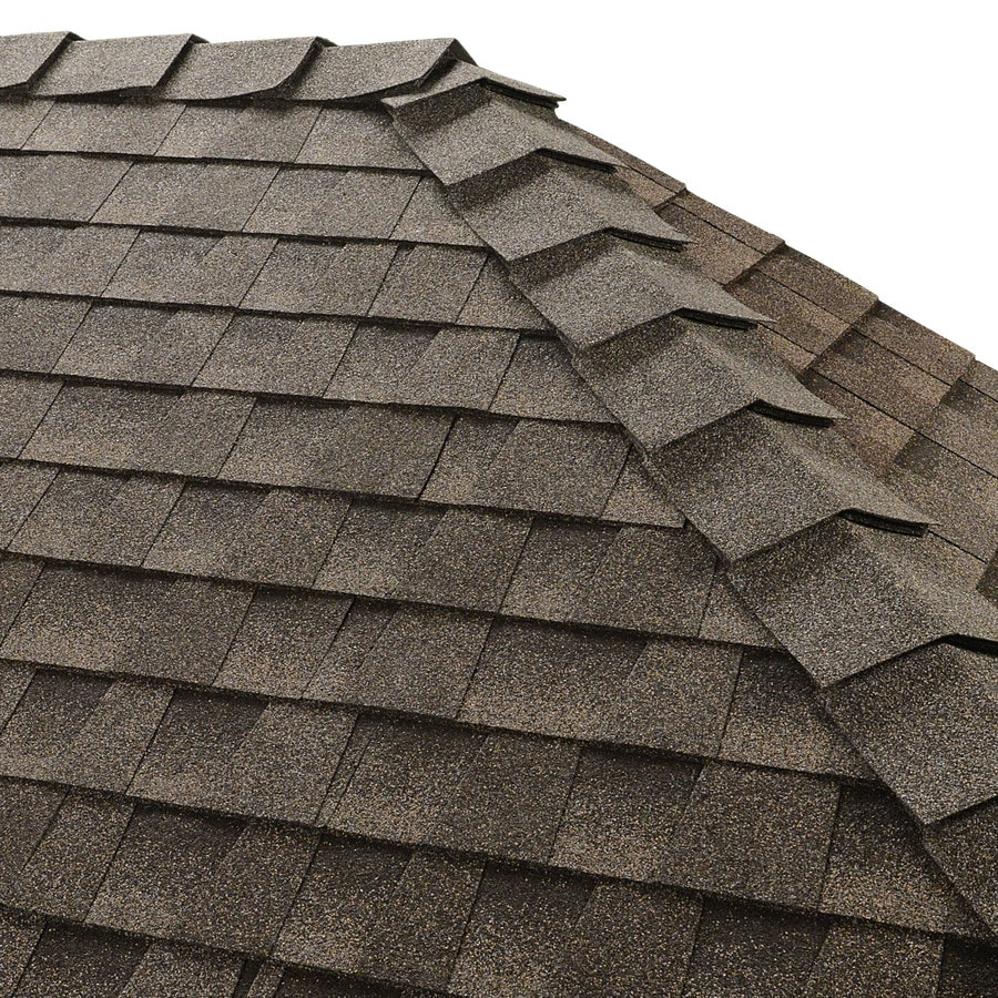 GAF Ridglass 31-lin ft Mission Brown Hip and Ridge Roof Shingles