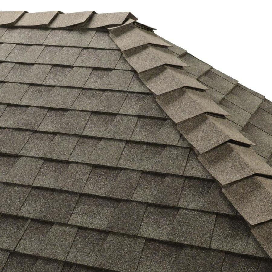 GAF Ridglass 31-lin ft Slate Hip and Ridge Roof Shingles