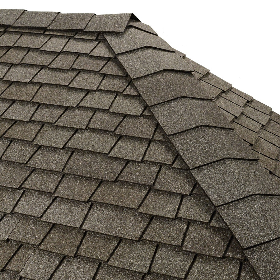 GAF Timbertex 20-lin ft Antique Slate Laminated Hip and Ridge Roof Shingles