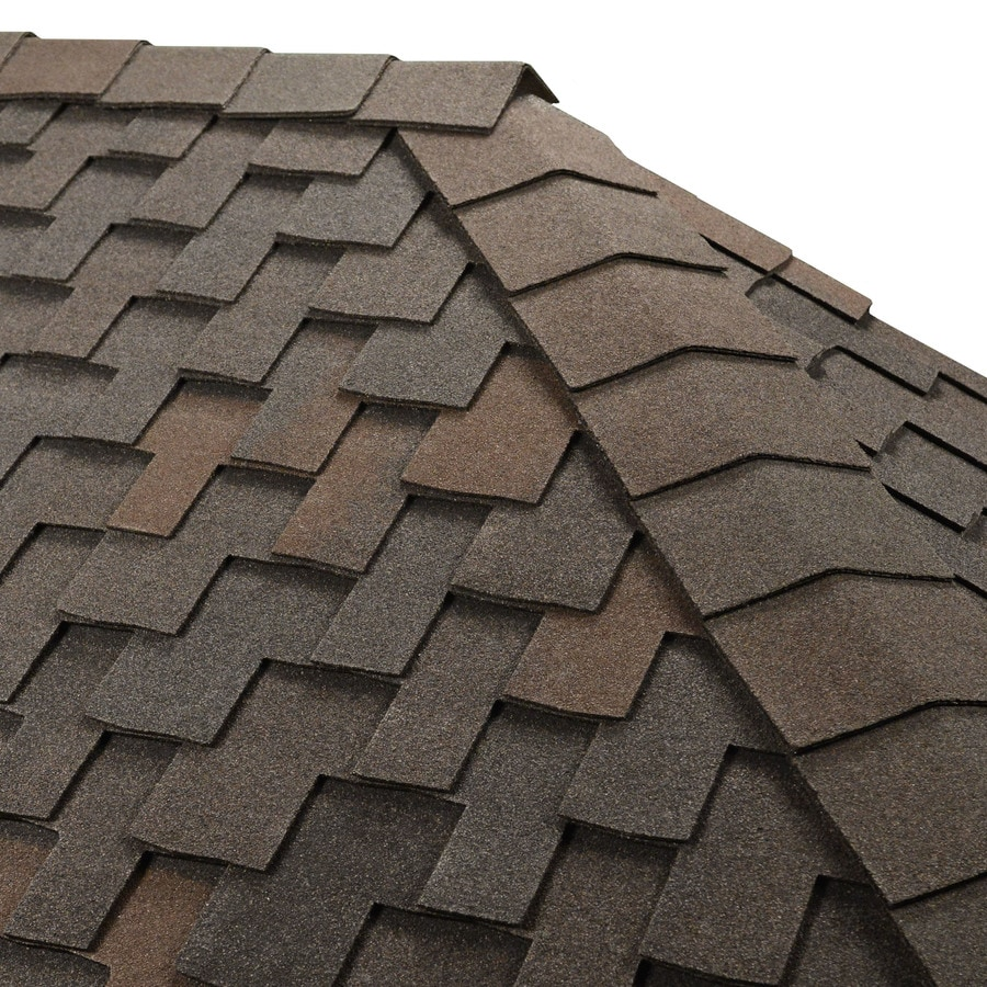 GAF Timbertex 20-lin ft Black Oak Laminated Hip and Ridge Roof Shingles