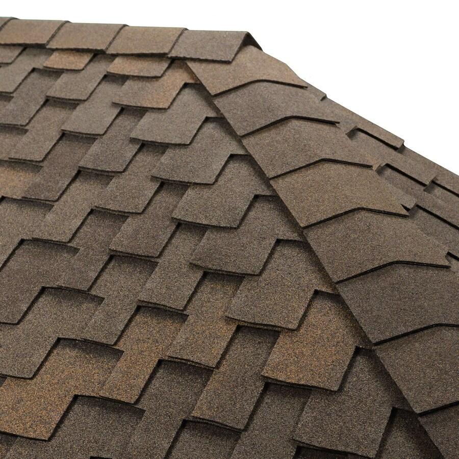 GAF Timbertex 20-lin ft Stone Wood Laminated Hip and Ridge Roof Shingles