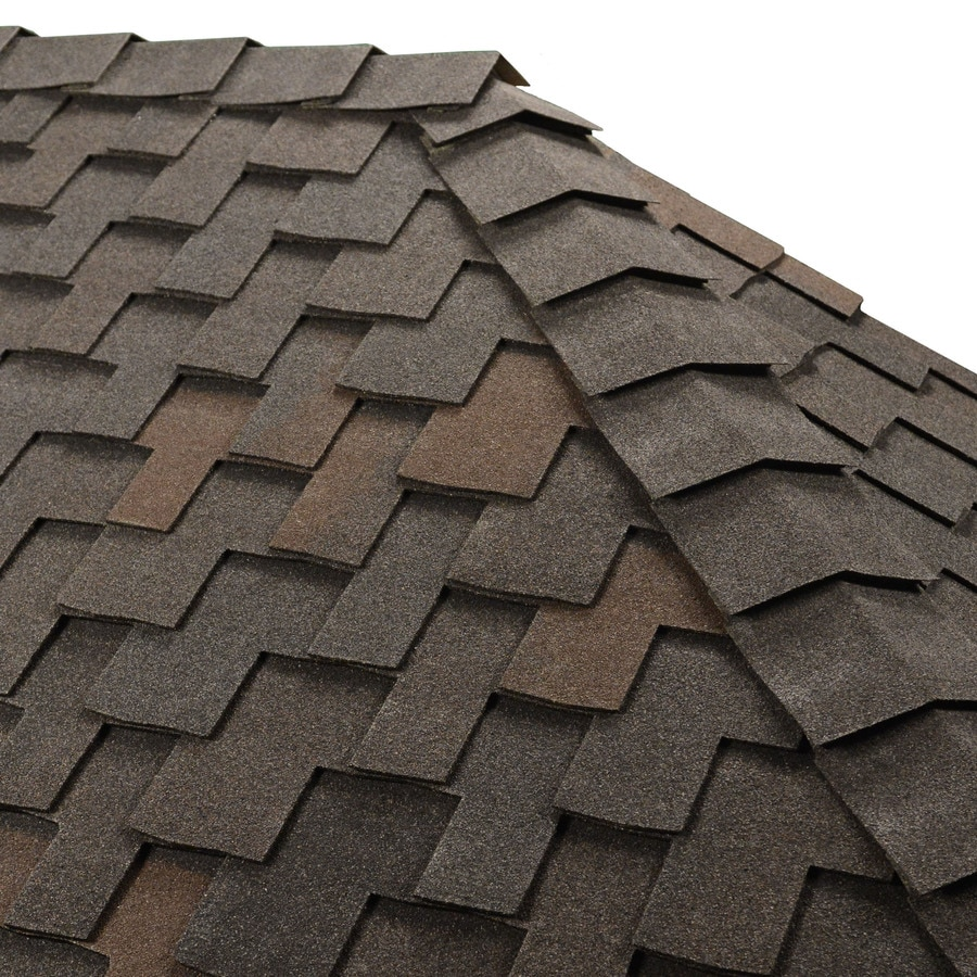 GAF Ridglass 31-lin ft Black Oak Hip and Ridge Roof Shingles