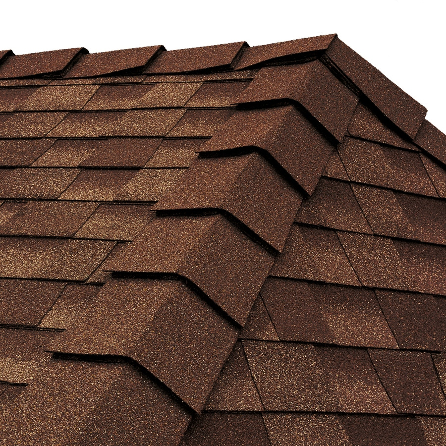 GAF Ridglass 31-lin ft Mesa Brown Hip and Ridge Roof Shingles