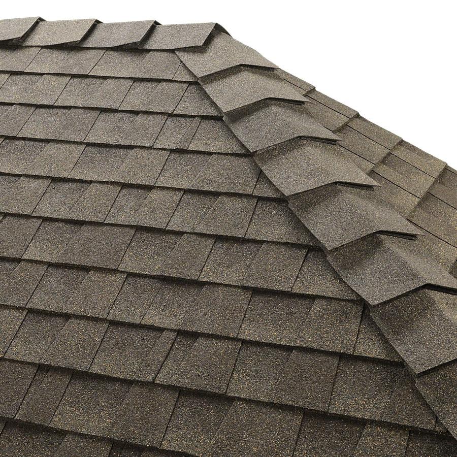 GAF Ridglass 31-lin ft Seq/Can Weathered Wood Hip and Ridge Roof Shingles
