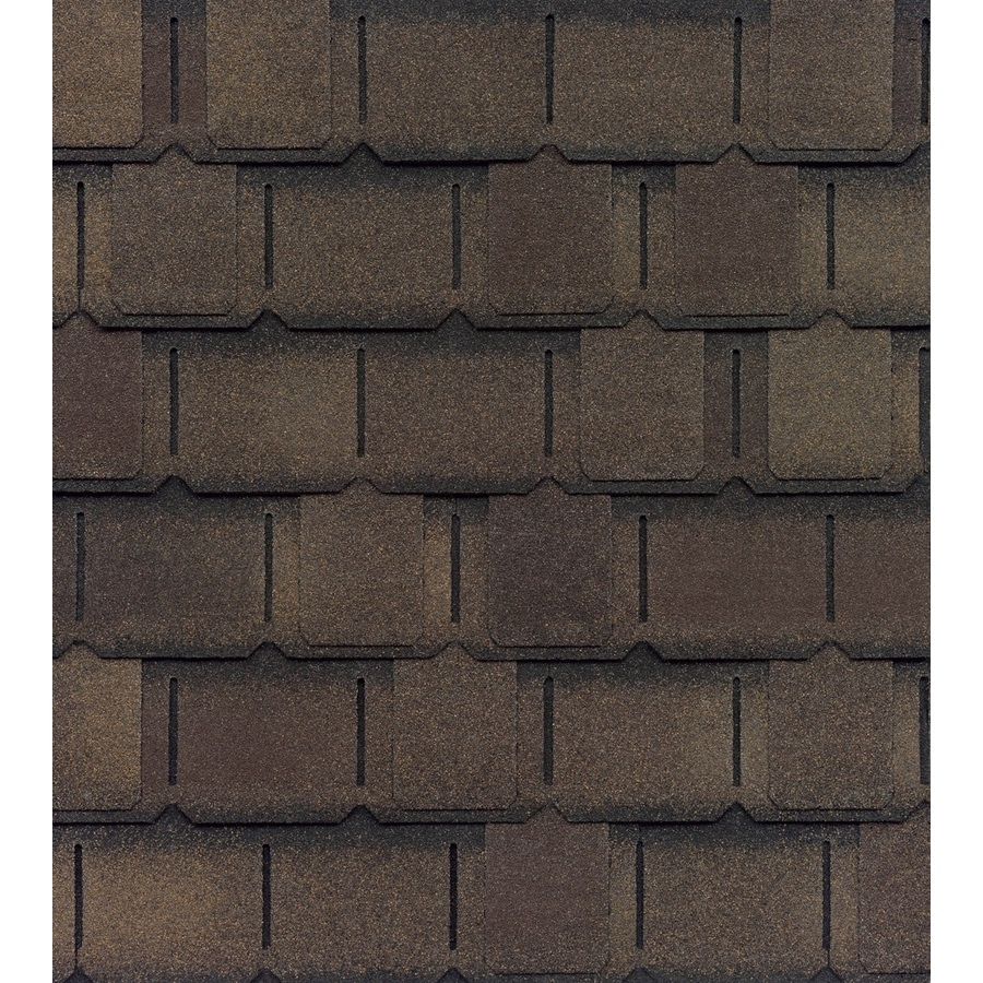 GAF Camelot II 25-sq ft Barkwood Laminated Architectural Roof Shingles