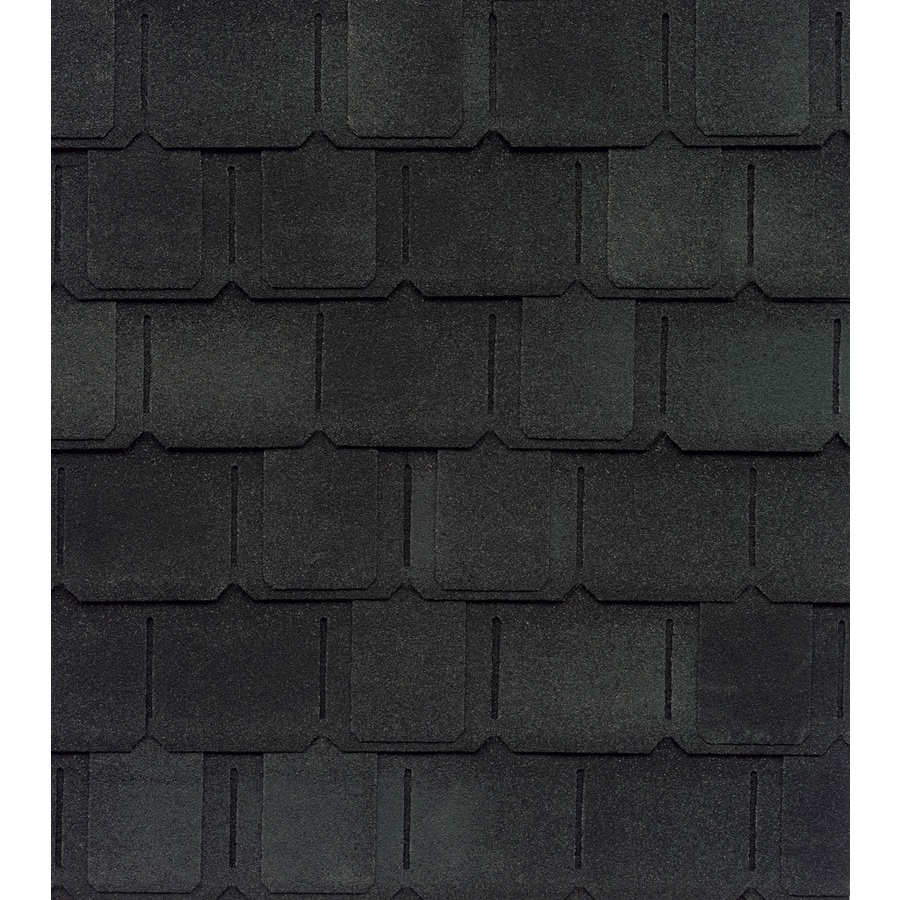 GAF Camelot 25-sq ft Charcoal Laminated Architectural Roof Shingles