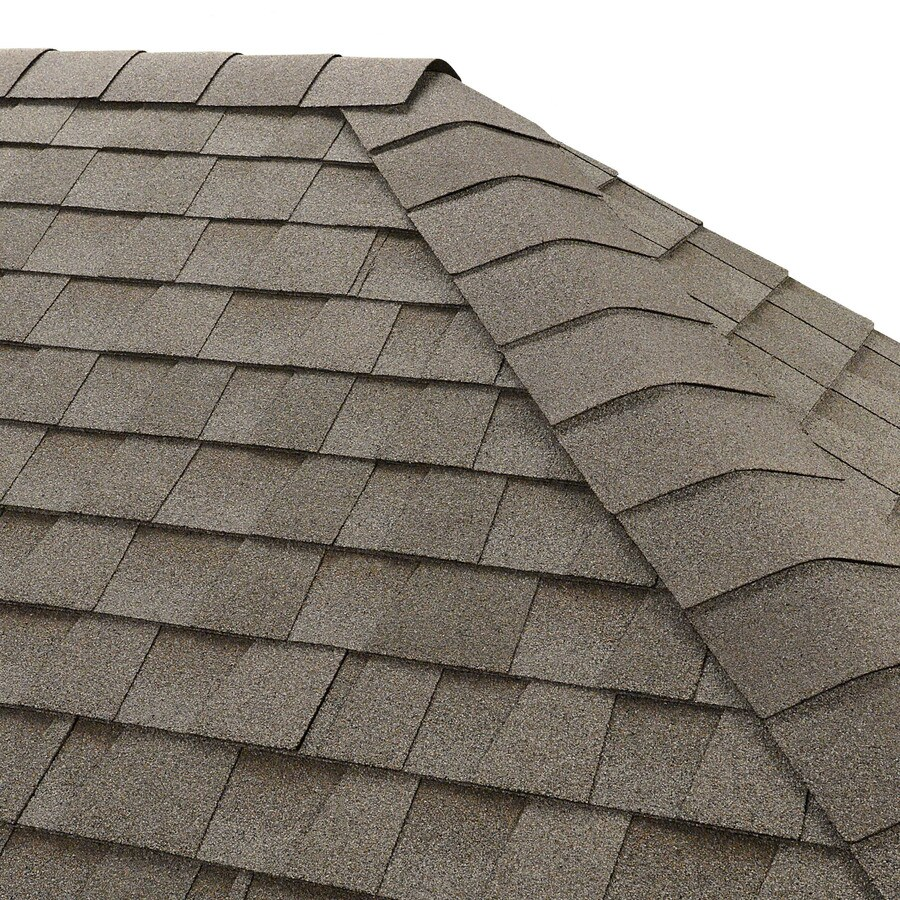 GAF Seal-A-Ridge 25 Na-Lin Ft Fox Hollow Gray Hip & Ridge 0-Tab Roof Shingles