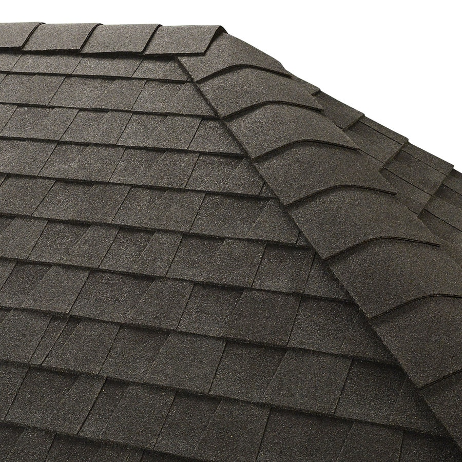 GAF Timbertex 20-lin ft Charcoal Laminated Hip and Ridge Roof Shingles
