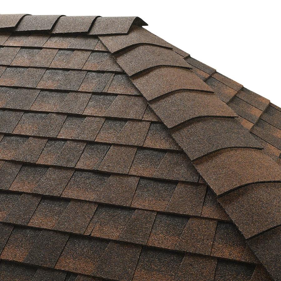 GAF Timbertex 20-lin ft Hickory Laminated Hip and Ridge Roof Shingles