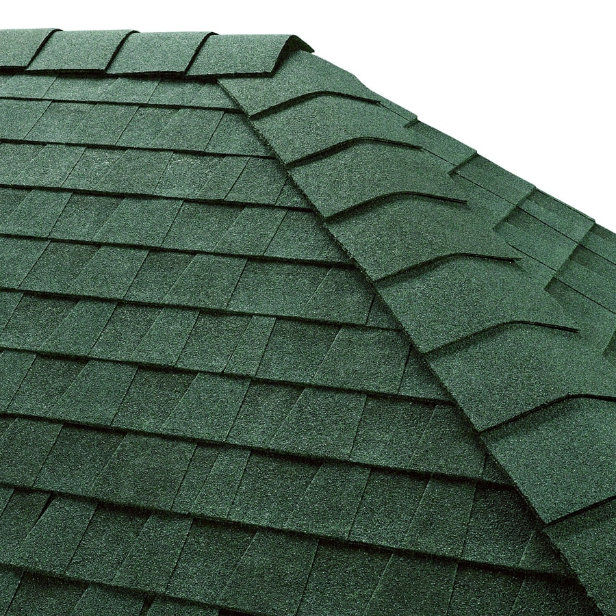 GAF Timbertex 20-lin ft Hunter Green Laminated Hip and Ridge Roof Shingles