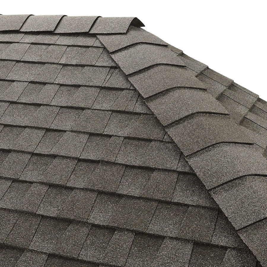 GAF Timbertex 20-lin ft Pewter Gray Laminated Hip and Ridge Roof Shingles