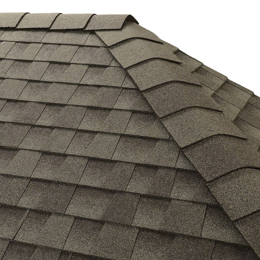GAF Timbertex 20-lin ft Slate Laminated Hip and Ridge Roof Shingles