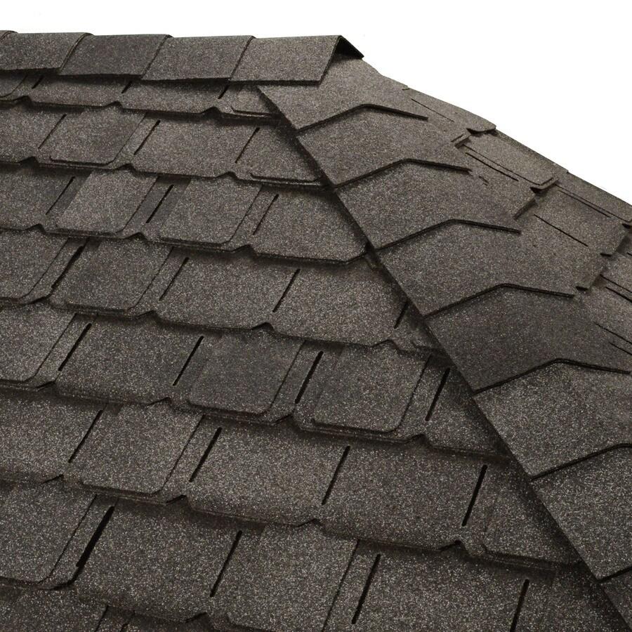 GAF Timbertex 20-lin ft Welsh Gray Laminated Hip and Ridge Roof Shingles