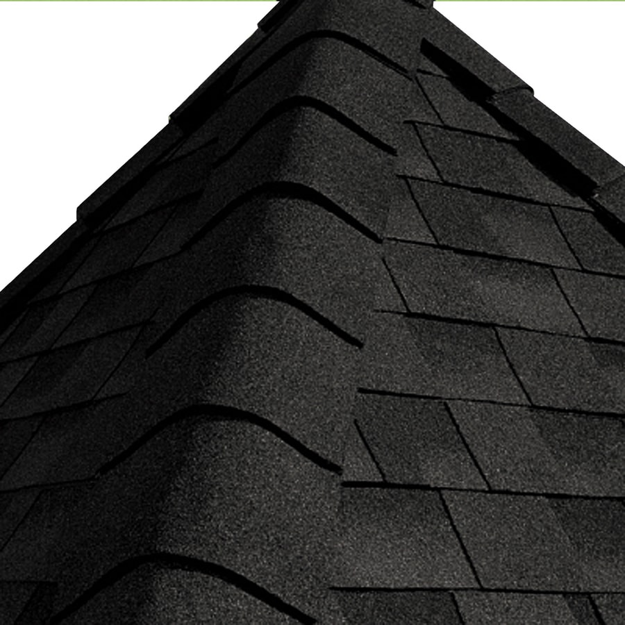 GAF Timbertex 20-lin ft Timbertex Canterbury Black Laminated Hip and Ridge Roof Shingles