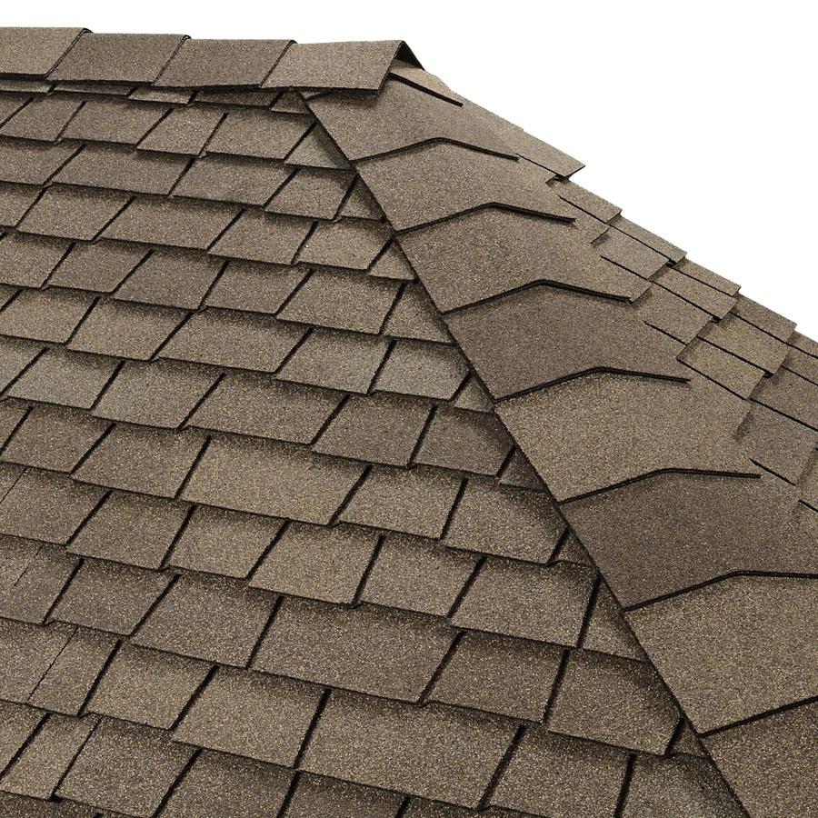 GAF Timbertex 20-lin ft Cedarwood Abbey Laminated Hip and Ridge Roof Shingles
