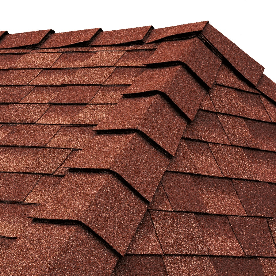 GAF Ridglass 31-lin ft Venetian Coral Hip and Ridge Roof Shingles
