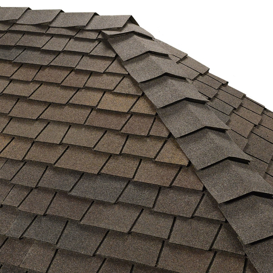 GAF Ridglass 31-lin ft Woodberry Brown Hip and Ridge Roof Shingles