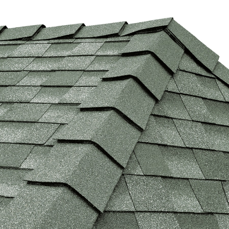 GAF Ridglass 31-lin ft Cool Antique Slate Hip and Ridge Roof Shingles
