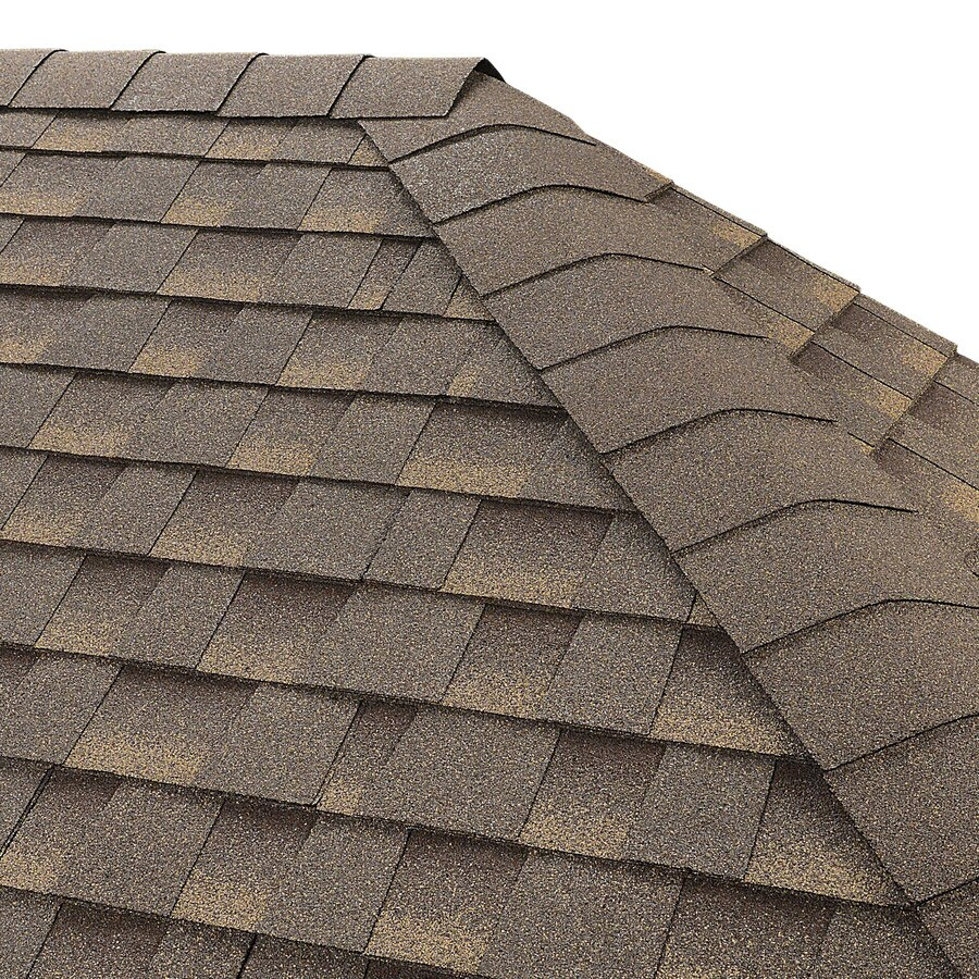 GAF Seal A Ridge 25-lin ft Cool Barkwood Hip and Ridge Roof Shingles
