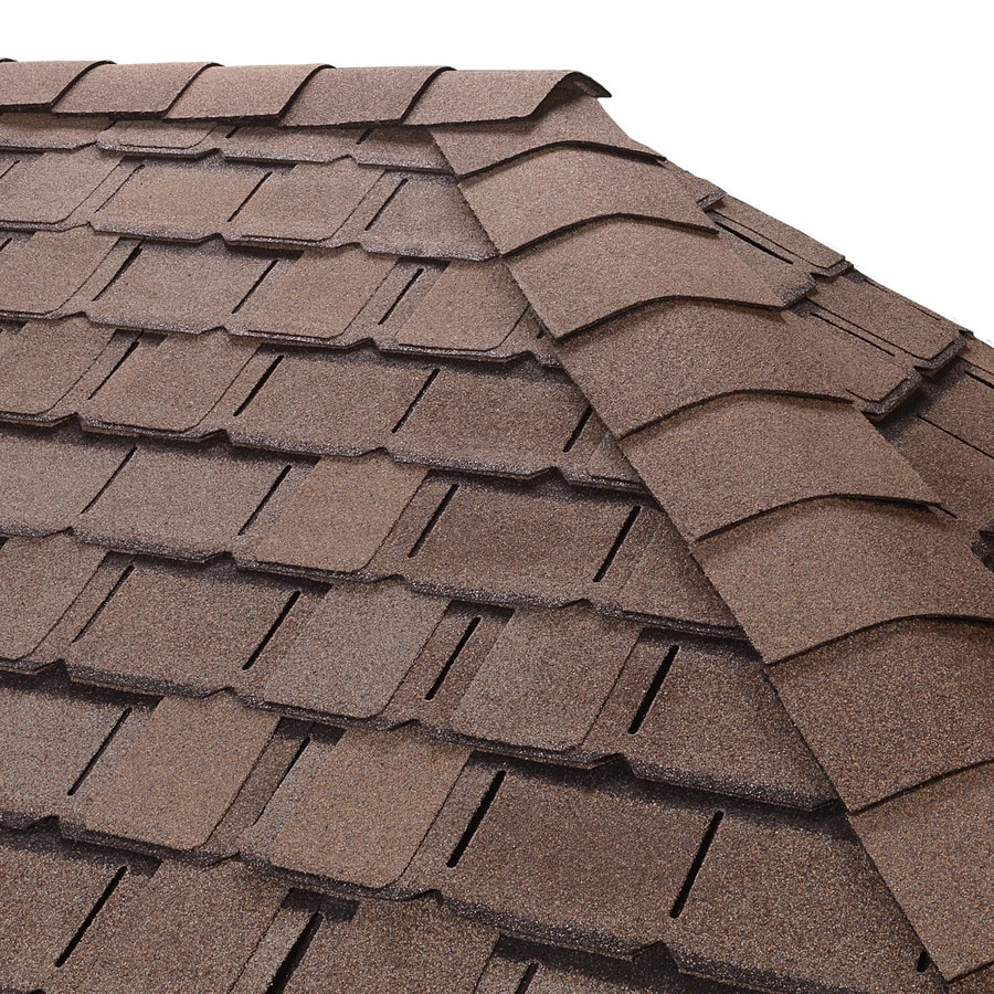 GAF Timbertex 20-lin ft Weathered Timber Laminated Hip and Ridge Roof Shingles
