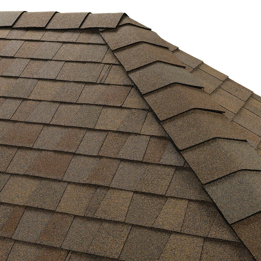 GAF Timbertex 20-lin ft Amber Wheat Laminated Hip and Ridge Roof Shingles