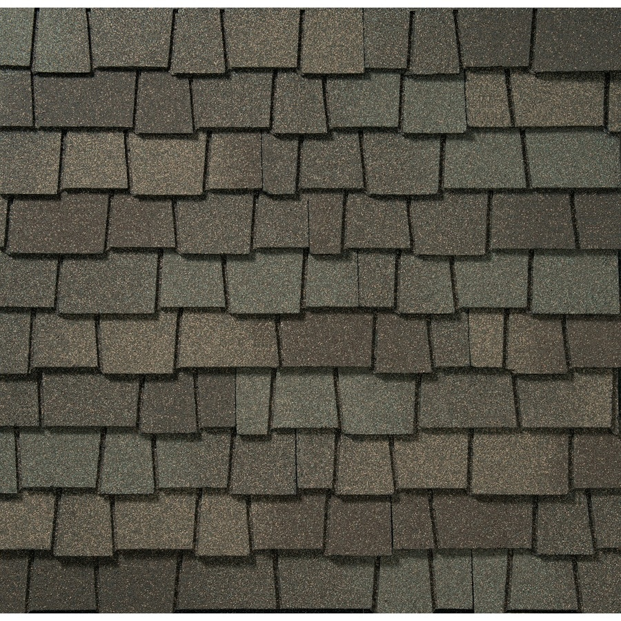 GAF Glenwood 11.11-sq ft Weathered Wood Laminated Architectural Roof Shingles