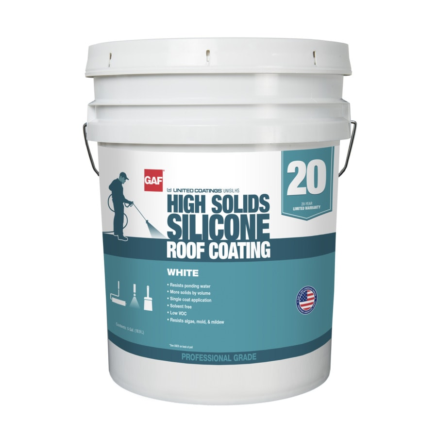Gaf United Coatings 5 Gallon Silicone Reflective Roof