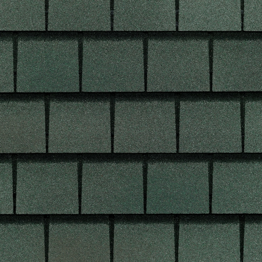 GAF Slateline 33.33-sq ft Emerald Green Architectural 5-Tab Roof Shingles