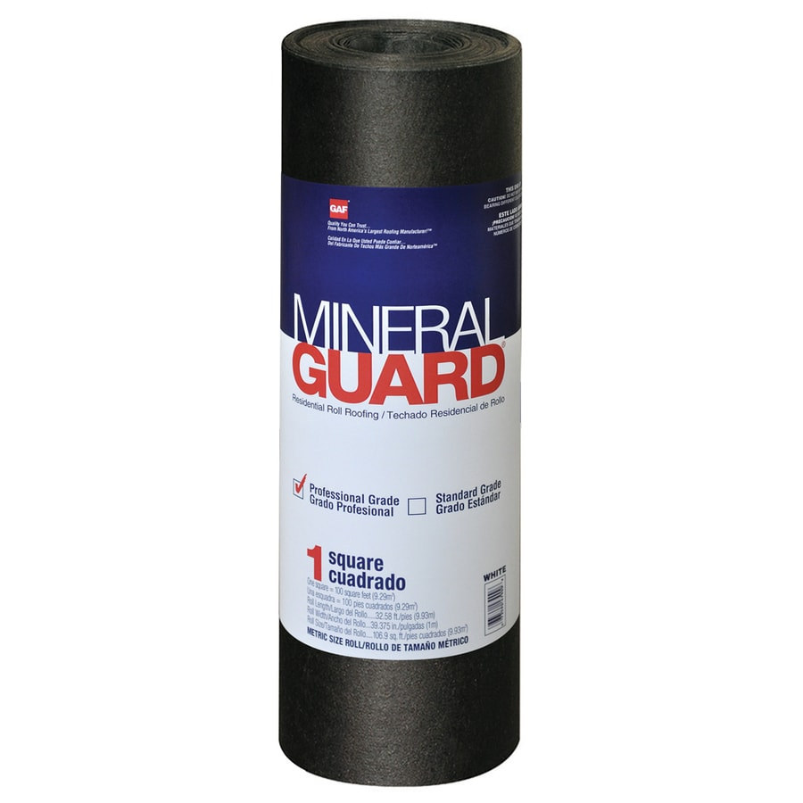 GAF Mineral Guard 3.28-ft W x 32.58-ft L 100-sq ft Charcoal Roll Roofing