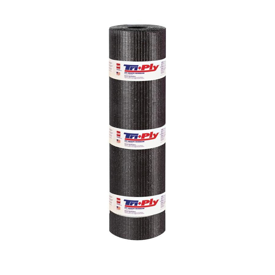 GAF Triply 3.3-ft W x 32.25-ft L 100-sq ft Black Roll Roofing