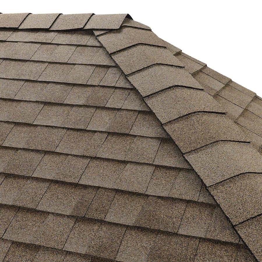 GAF Timbertex 20-lin ft Driftwood Laminated Hip and Ridge Roof Shingles