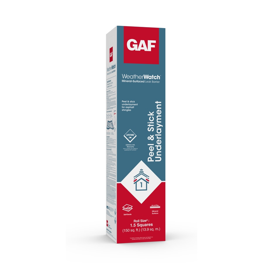 GAF WEATHERWATCH 36-in x 50-ft 150-sq ft Polypropylene Roof Underlayment