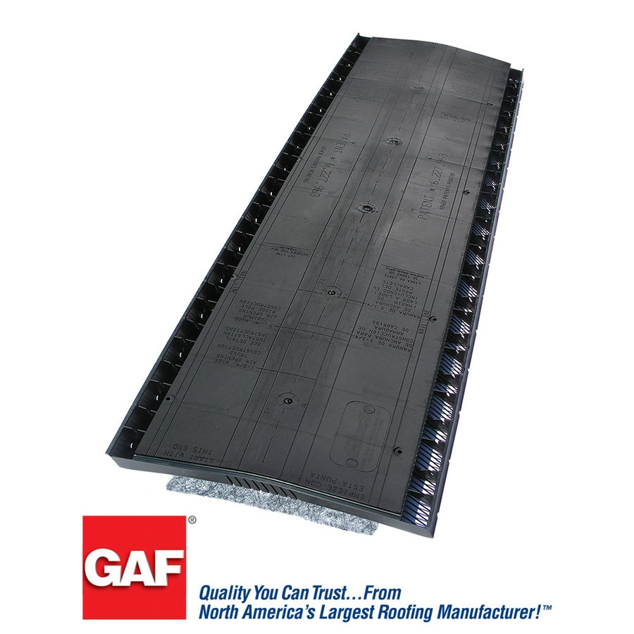 Exceptional GAF Cobra 13.7 In X 48 In Black Plastic Stick Roof Ridge Vent