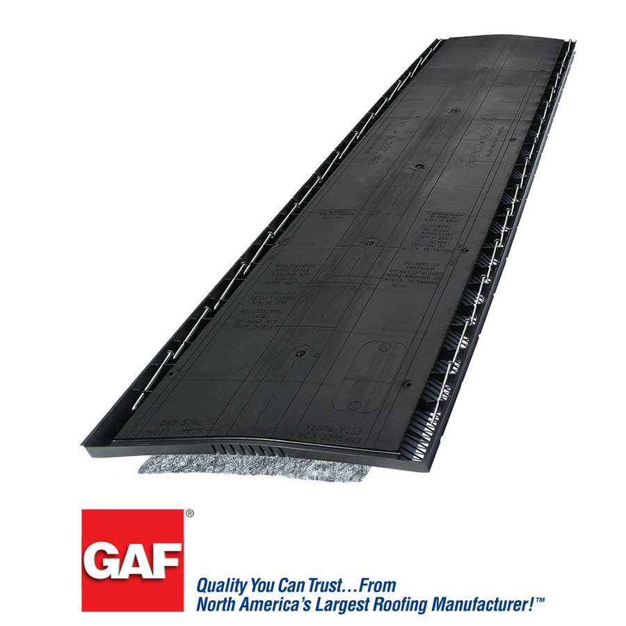 GAF Cobra 13.7-in x 48-in Black Plastic Stick Roof Ridge Vent