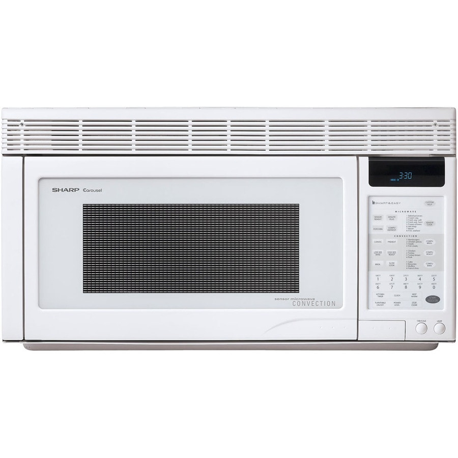 Sharp 1 Cu Ft Over The Range Convection Oven Microwave With Sensor Cooking