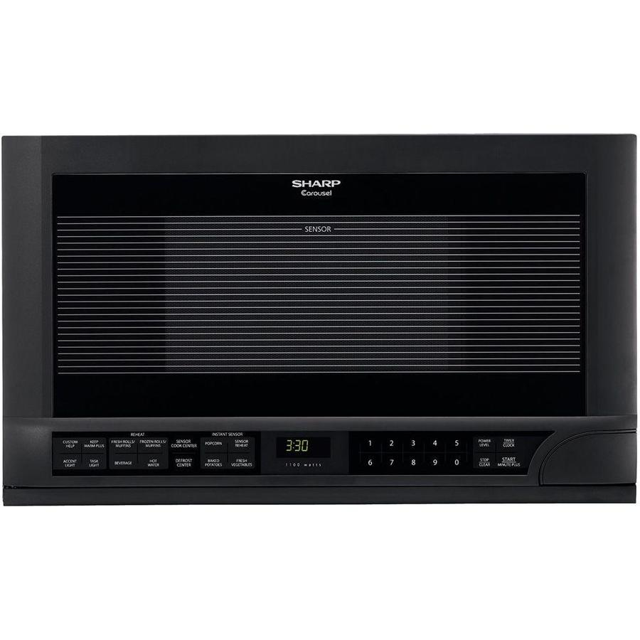 Sharp Carousel 1.5-cu ft Built-In Microwave with Sensor Cooking Controls (Black)