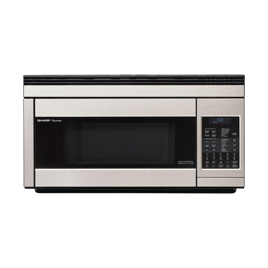 Sharp 1 Cu Ft Over The Range Convection Microwave With Sensor Cooking Stainless Steel Common 30 In Actual