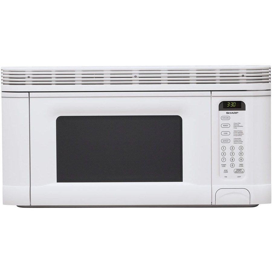 Sharp 1 4 Cu Ft Over The Range Microwave White Common